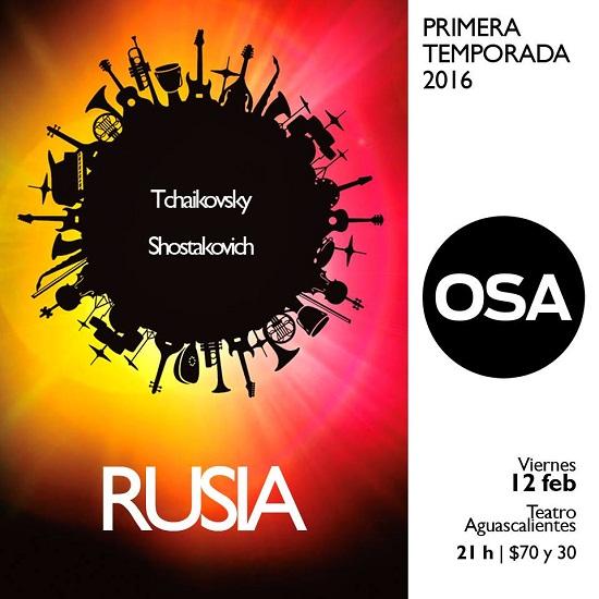 Interpretará la OSA repertorio de música rusa en concierto de este viernes