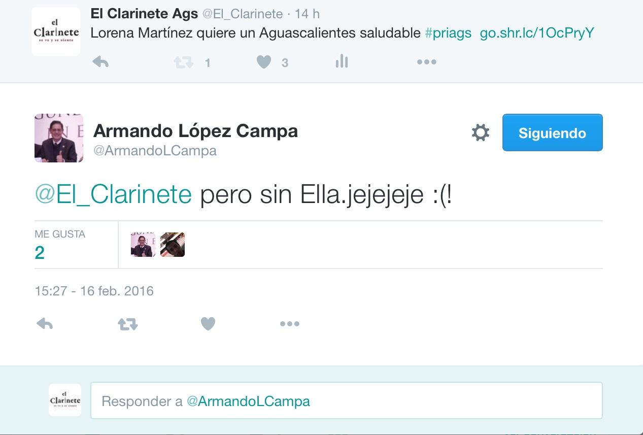 Sin Lorena Martínez Aguascalientes sería saludable: López Campa