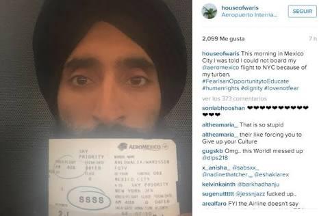 Denuncia actor de EU discriminación en Aeromexico