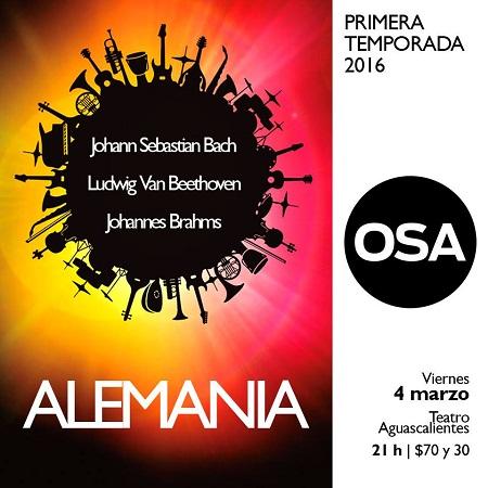 Interpretará la OSA concierto alemán este viernes