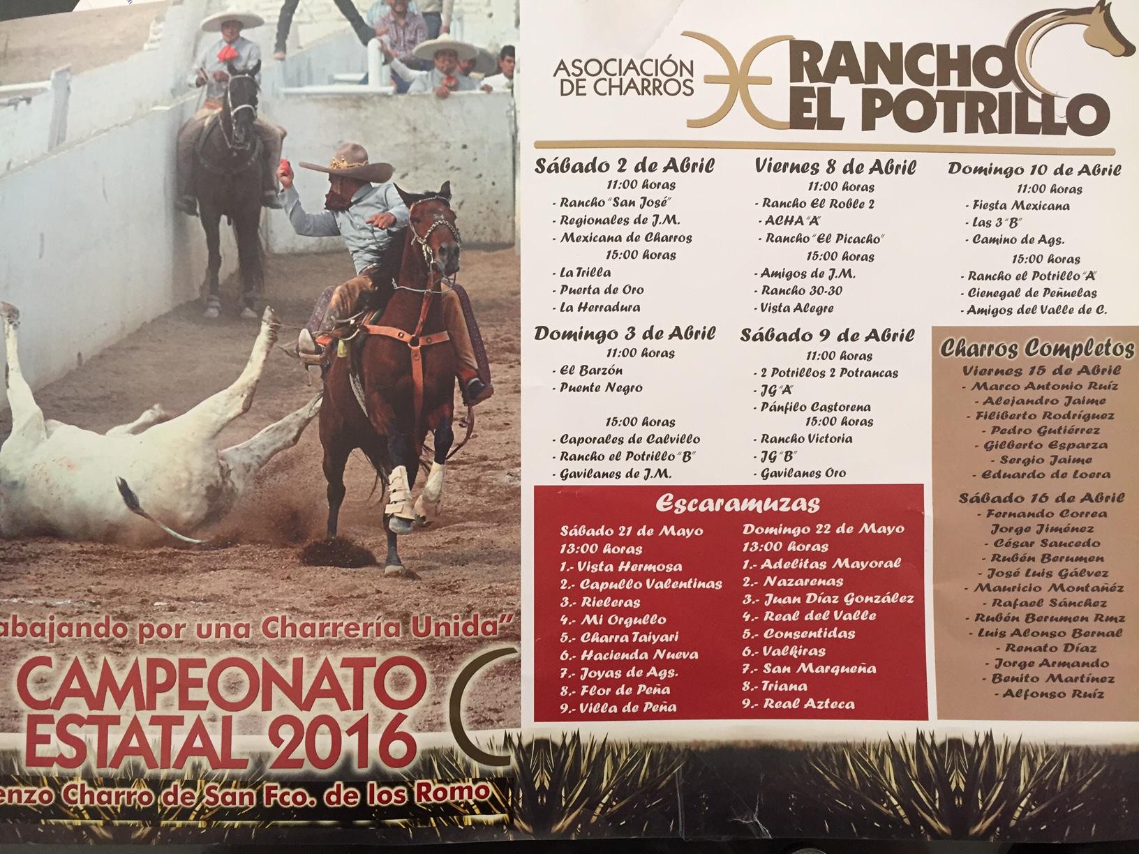 Se llevará a cabo el Campeonato Estatal Charro en San Fco de los Romo