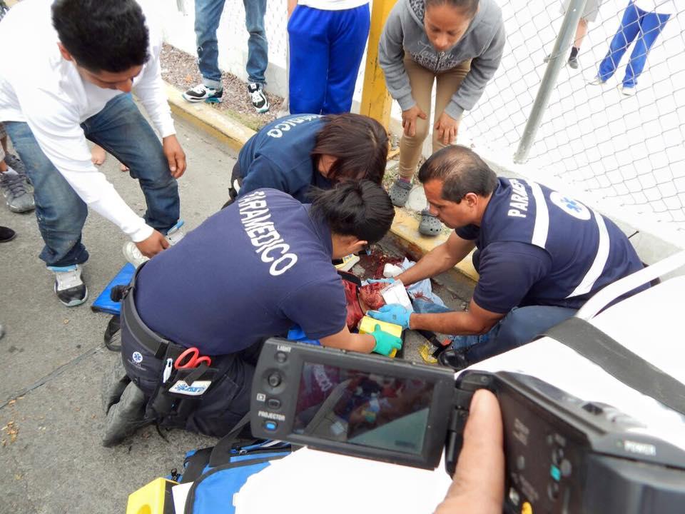 Grave niño de 5 años embestido por motociclista en Aguascalientes