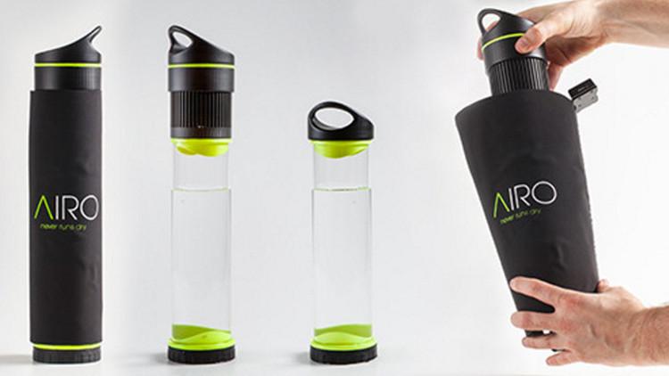Científicos crean una botella que convierte el aire en agua