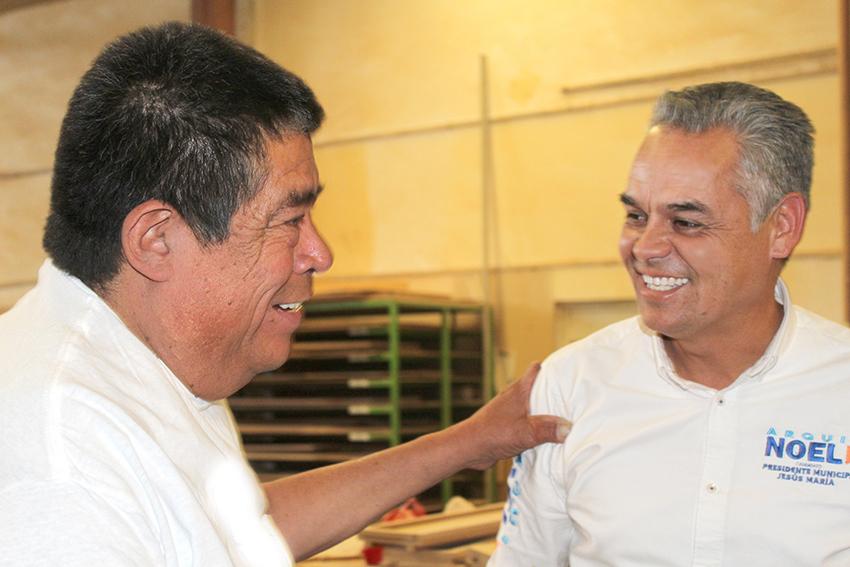 Reconocen empresarios proyecto de Noel Mata en Jesús María