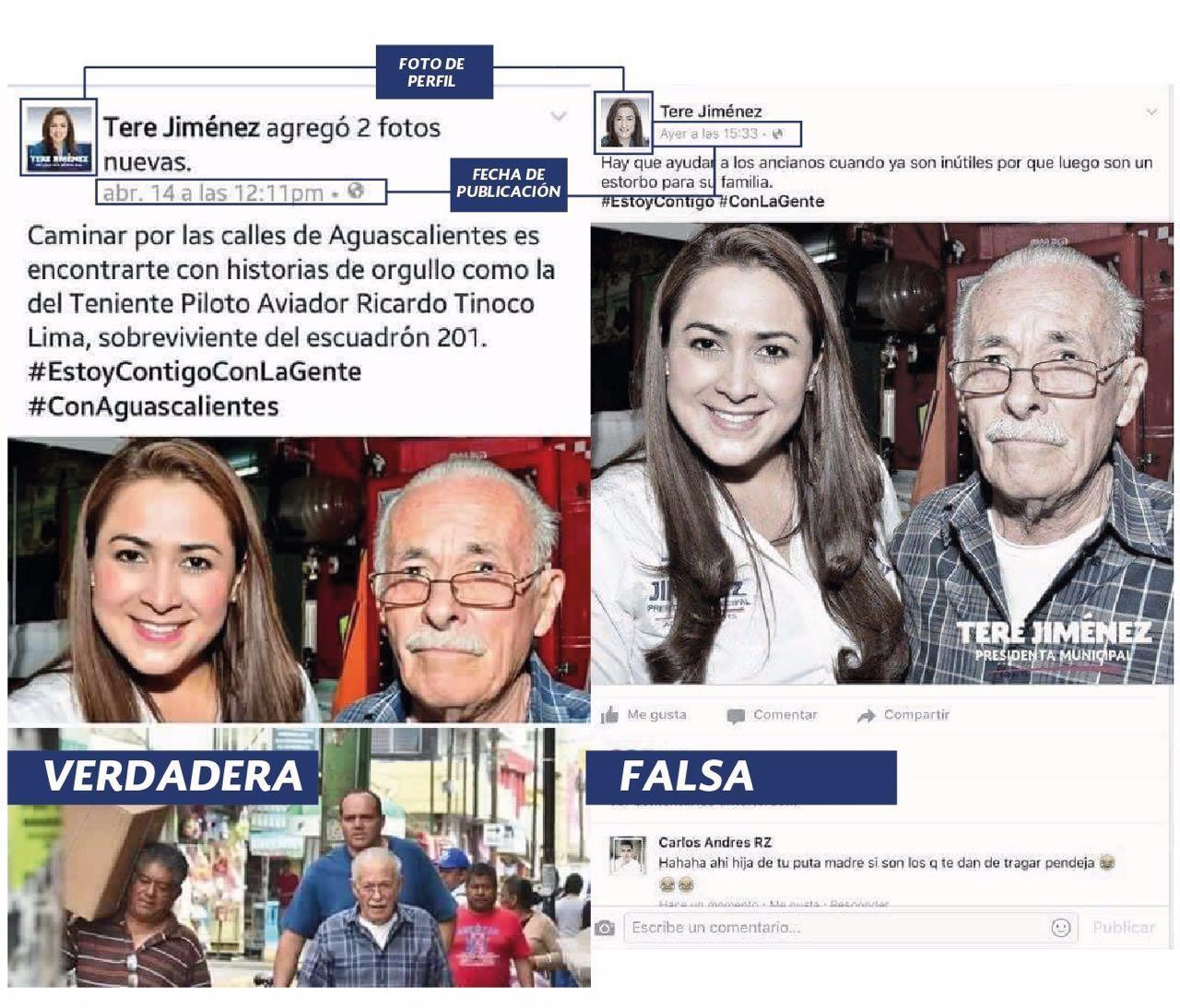 PAN asegura que es falsa página de Facebook de Tere Jiménez