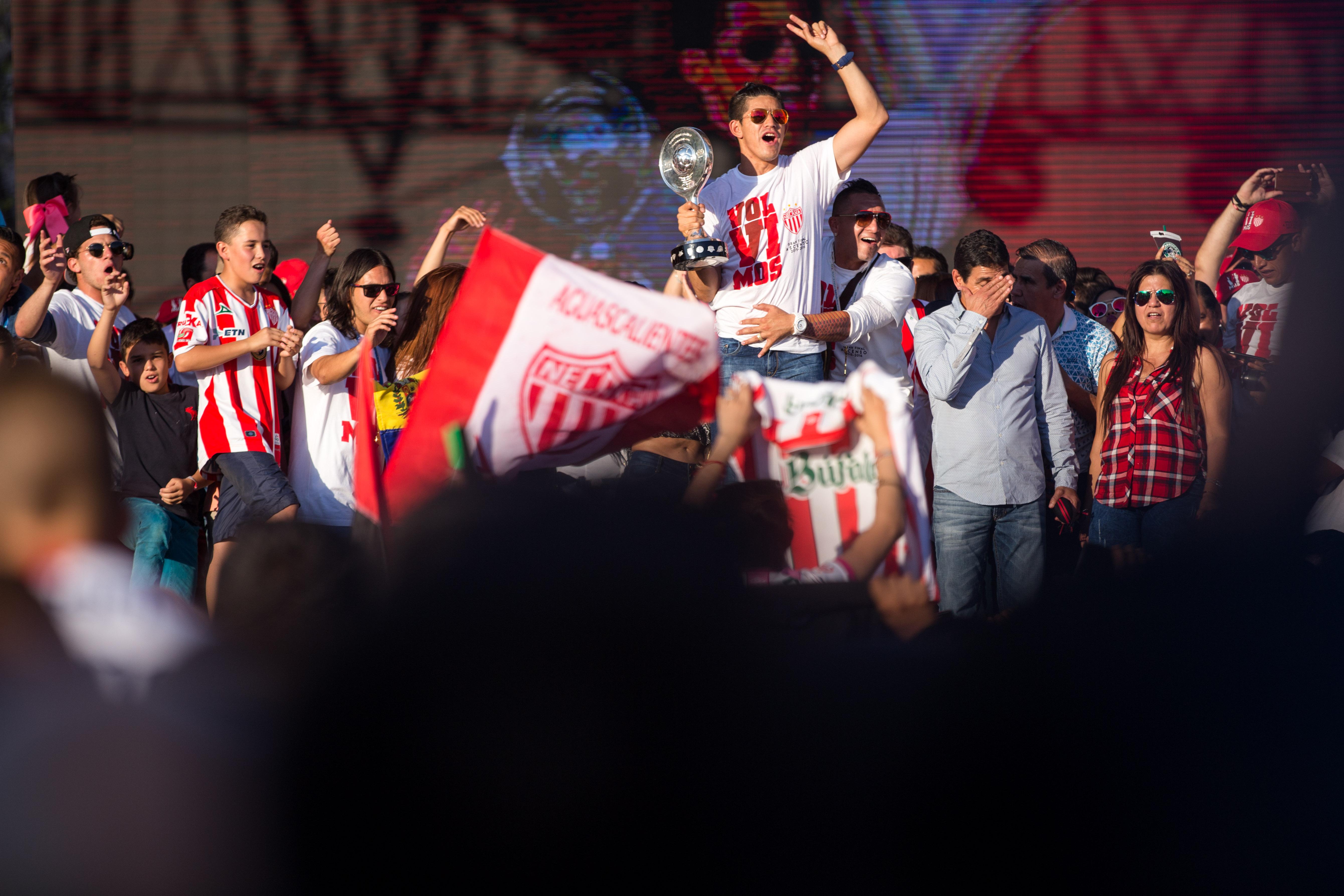 Los Rayos de Necaxa celebran su ascenso a la Primera División en Ags.