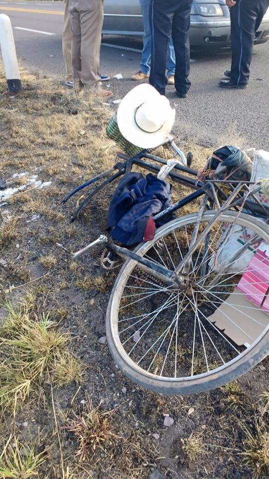 Muere octagenario que fue arrollado en carretera de Rincón de Romos