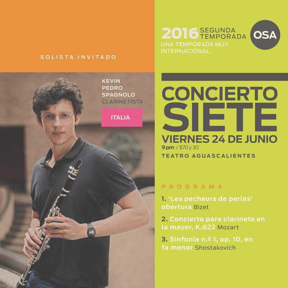 Un solista internacional para el 7mo. concierto de la OSA