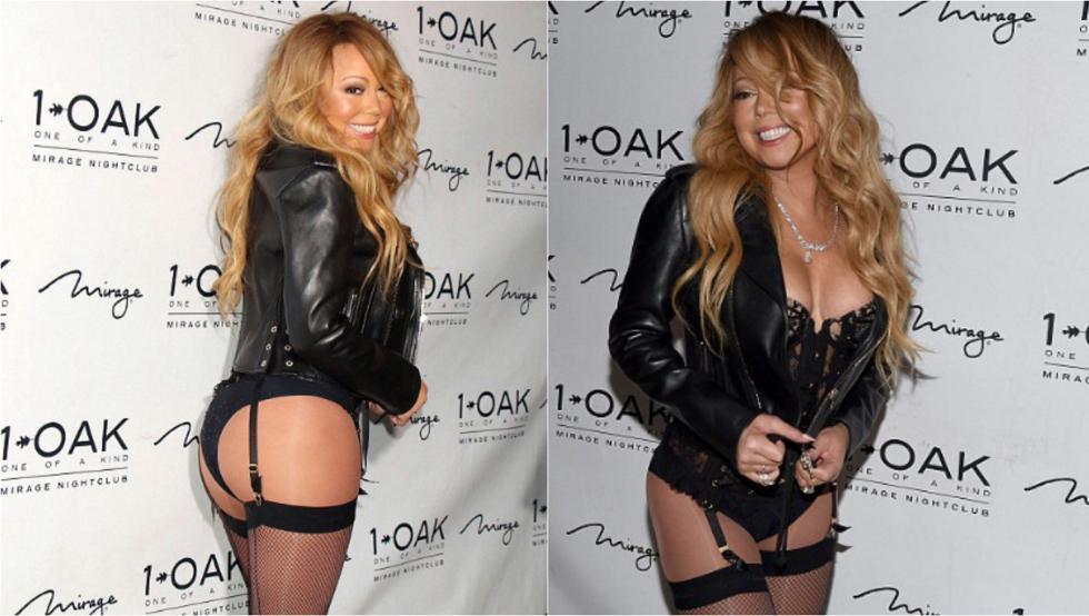 Mariah Carey se estrena como DJ en ropa interior