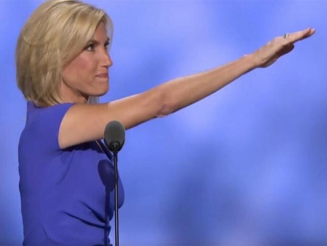 Simpatizante de Trump emula el saludo Nazi