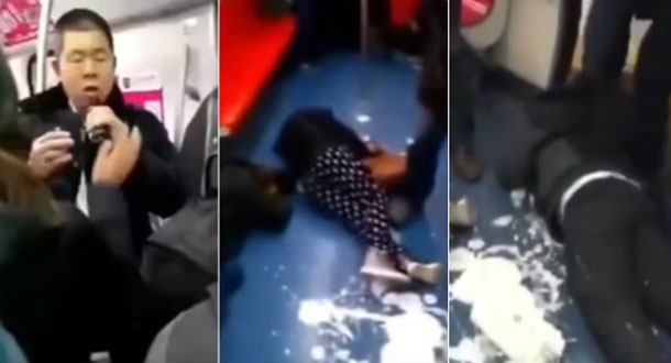 Graban supuesto suicidio colectivo en metro de China (video)