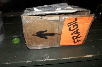 Asegura Ejército Mexicano caja con droga en la Puerta Sur de Ags.