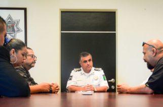 Se reúne Secretario de Seguridad Pública Municipal con dirigentes de Barrios Unidos de Ags