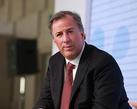 Jose Antonio Meade, Mexico's finance minister, listens during the 100th Assembly of the American Chamber of Commerce Mexico (Amchan) in Mexico City, Mexico, on Tuesday, March 14, 2017. Amchan promotes sustainable trade and investment between Mexico and the United States with an objective to strengthen the economic relationship between the two countries. Photographer: Susana Gonzalez/Bloomberg via Getty Images