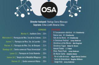 Este lunes inician conciertos navideños de la OSA