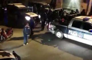 Investigarán a policías del MuniAgs que dispararon al aire en fiesta callejera
