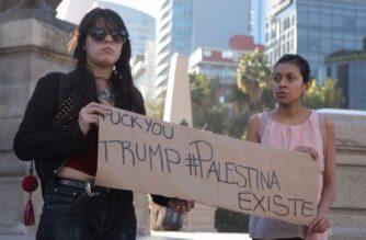 Palestinos en México protestan por decisión de Trump