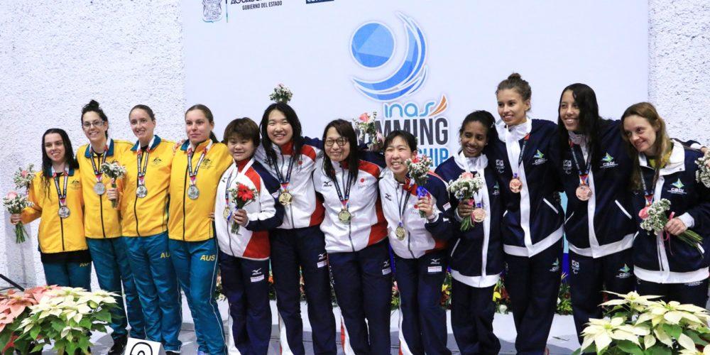 México, Brasil y Australia los grandes ganadores de mundial de natación INAS 2017