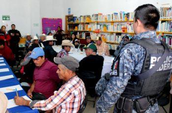 Policía Federal y ayuntamiento trabajan estrategias contra delitos en el campo