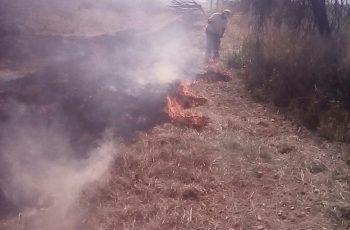 Bomberos de Aguascalientes apoyan a sofocar incendio en territorio de Zacatecas