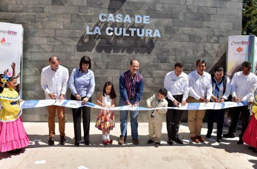 Entrega GobAgs a Pabellón de Arteaga infraestructura cultural y apoyos para el campo