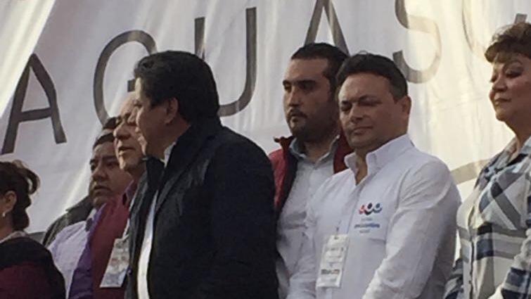 """Los avatares del """"líder"""" de MORENA en Ags durante la visita de AMLO a esta ciudad"""