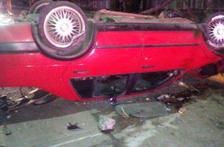 Gravemente herido, quedó tras choque y volcadura en Aguascalientes