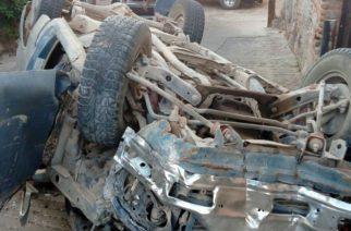 Choque y posterior volcadura deja como saldo dos lesionados en la comunidad de Malpaso