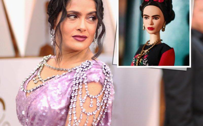 Salma Hayek reacciona molesta ante la figura Barbie de Frida Kahlo