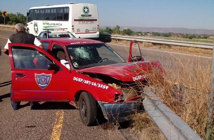 Perdió el control en una curva y terminó chocando su vehículo en SFR