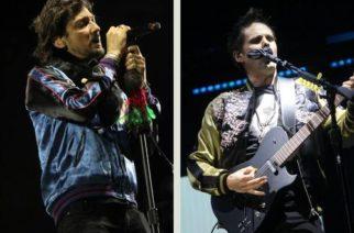 León Larregui y Matthew Bellamy, durante su participación en el festival en el Parque Fundidora