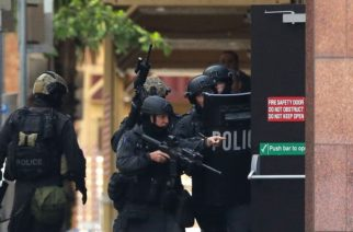 XXX at Lindt Cafe, Martin Place on December 15, 2014 in Sydney, Australia.  Police attend a hostage situation at Lindt Cafe in Martin Place.