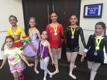 Ganan 8 medallas para Ags las alumnas de Ballet Clásico Aguascalientes
