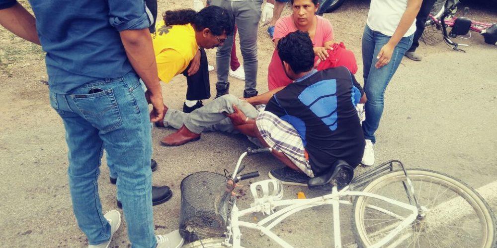 1 lesionado deja choque entre bicicleta y motononeta en RdeR