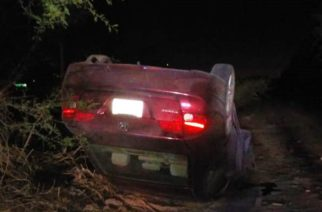 Volcadura deja un herido en Rincón de Romos, Aguascalientes