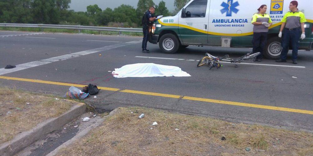 Arrollan y matan a anciano en la carretera 45 norte en Aguascalientes