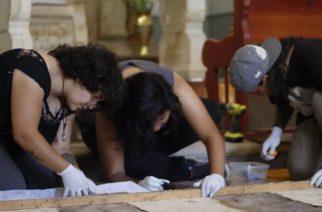 Inicia restauración de un lienzo del siglo XVIII