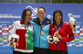 Ayumi Macías de Aguascalientes gana plata en nado libre en JCC en Colombia