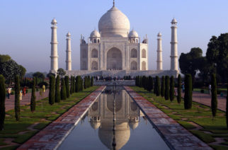 A view of the Taj Mahal on September 30, 2010 in Agra, India.