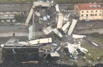 Imágenes: Mortal derrumbe de puente de una autopista en Génova