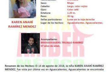 Activan Alerta Amber por desaparición de menores