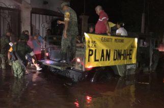 Lluvias en Sinaloa dejan tres muertos y tres personas desaparecidas