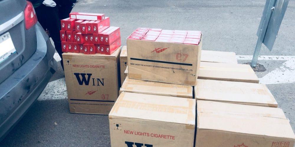 Cae sujeto que transportaba 10 mil 500 cigarros de contrabando