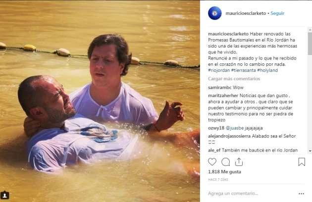 Mauricio Clark expone su bautizo que le 'limpió' su homosexualidad