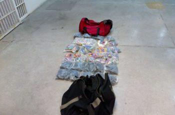 Asegura la SSPE una maleta con más de 7 kilogramos de pirotecnia