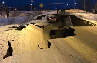 Difunden aterradoras imágenes del terremoto en Alaska