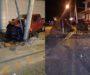 Ebrio conductor chocó contra las obras de Colinas del Río