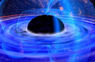 396536 01: This the European Space Agency photgraph released October 25, 2001 shows a supermassive black hole in the core of galaxy named MCG-6-30-15 as seen through the X-ray Multi-Mirror Mission (XMM-Newton) satellite. With this type of imaging, scientists for the first time have seen energy being extracted from a black hole. Like an electric dynamo, this black hole spins and pumps energy out through cable-like magnetic field lines into the chaotic gas whipping around it, making the gas - already infernally hot from the sheer force of crushing gravity - even hotter. (Photo by ESA/Getty Images)