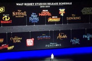 Checa las 12 películas de Disney que se estrenarán en 2019