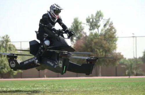 Policía en Dubai ya usa motocicletas voladoras